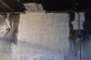gereinigte Wand