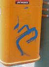 Graffitientfernung auf gummiertem Lack