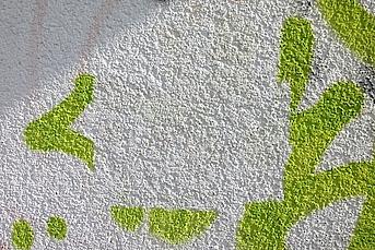 Putzwand reinigen Graffiti