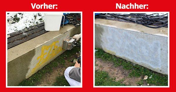 Graffiti entfernen auf Beton