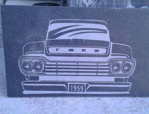 Fotogravur mit dem Graffiti Tornado
