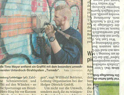"""Zeitungsbeitrag """"Graffititornado"""""""